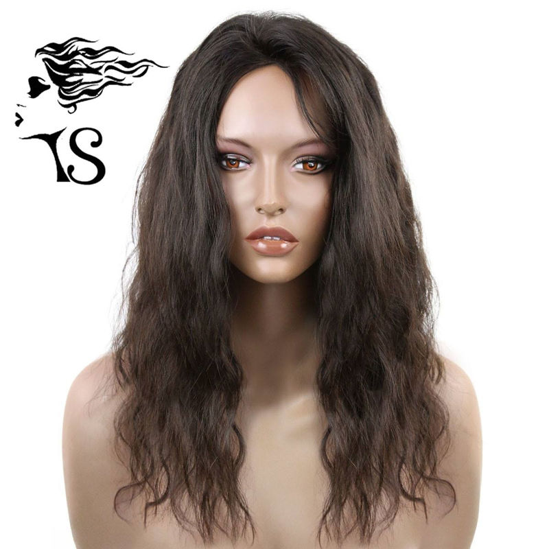 Black 100% Virgin Hair Lace Front Wigs , Light Wavy Lace Front Wigs Human Hair